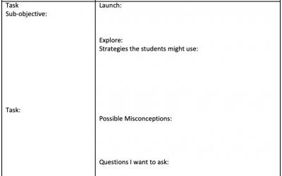 Math Block Lesson Plan